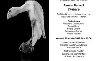 """Presentazione di """"Tiritere"""" di Renato Ranaldi"""